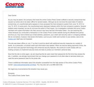 costco photo security breech