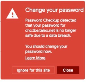 Is that Web Password Safe or Hacked?