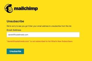 Mailchimp fail