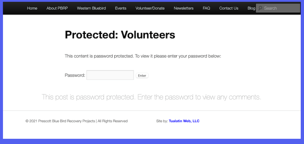 protected pages