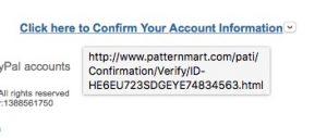 PayPal hyperlink