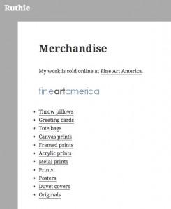 Ruth - merchandise