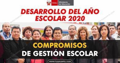 MINEDU: Compromisos de Gestión Escolar 2020 [PDF]