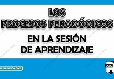 Los Procesos Pedagógicos en la Sesión de Aprendizaje [Word]