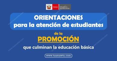 MINEDU: Orientaciones para la atención de estudiantes que culminan la Educación Básica