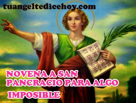 NOVENA A SAN PANCRACIO PARA ALGO IMPOSIBLE