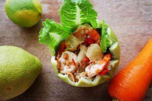 [食譜] 泰式柚子沙拉,涼拌菜,快速消耗柚子食譜ยำส้มโอ