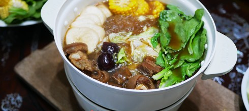 [食譜] 簡易羊肉爐做法,家庭羊肉爐。BRUNO萬用調理鍋