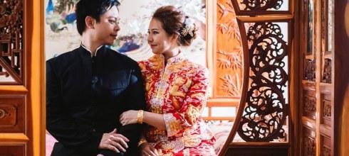 [婚禮][類婚紗] 不是旗袍婚紗照!龍鳳褂與中山裝的中式復古婚紗照