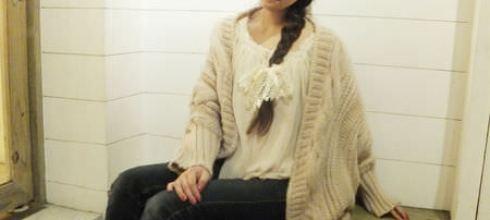 [穿搭?] 溫柔系~麻花蝙蝠袖毛衣