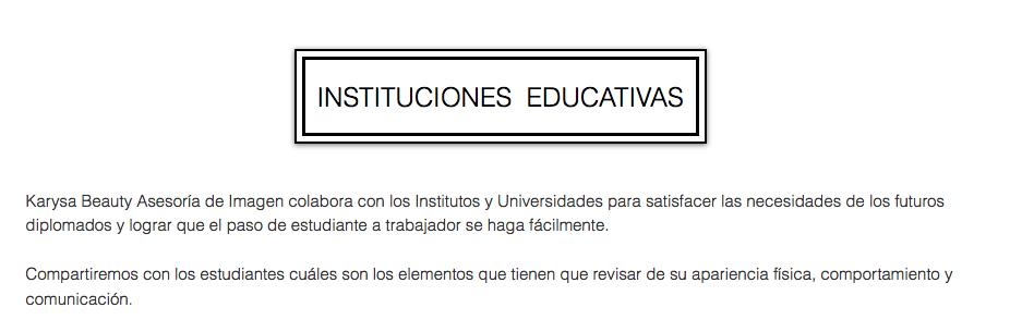 asesoria de imagen para instituciones educativas