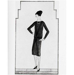 vestidito negro de chanel 1926 en la revista Vogue