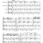 Danse hongroise N°5 (Brahms) - tuba quartet