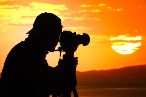 Photographing a sunset