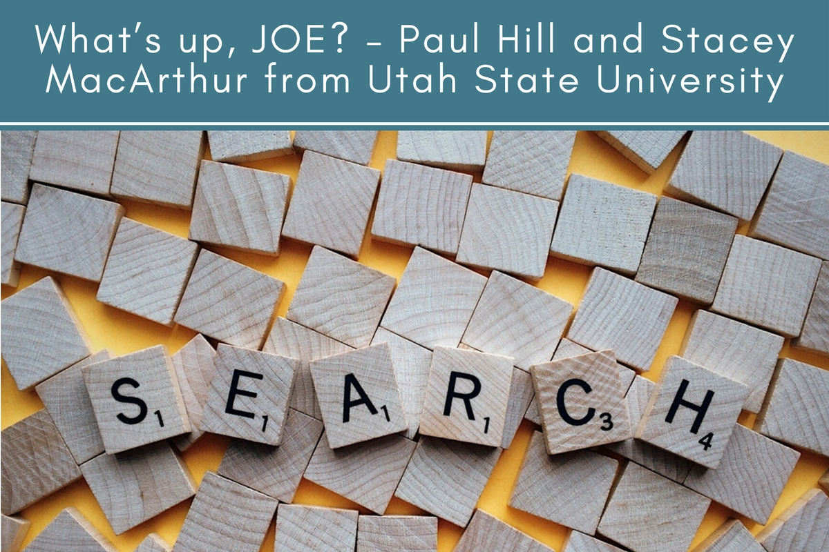What's up, JOE? – Paul Hill and Stacey MacArthur from Utah State University