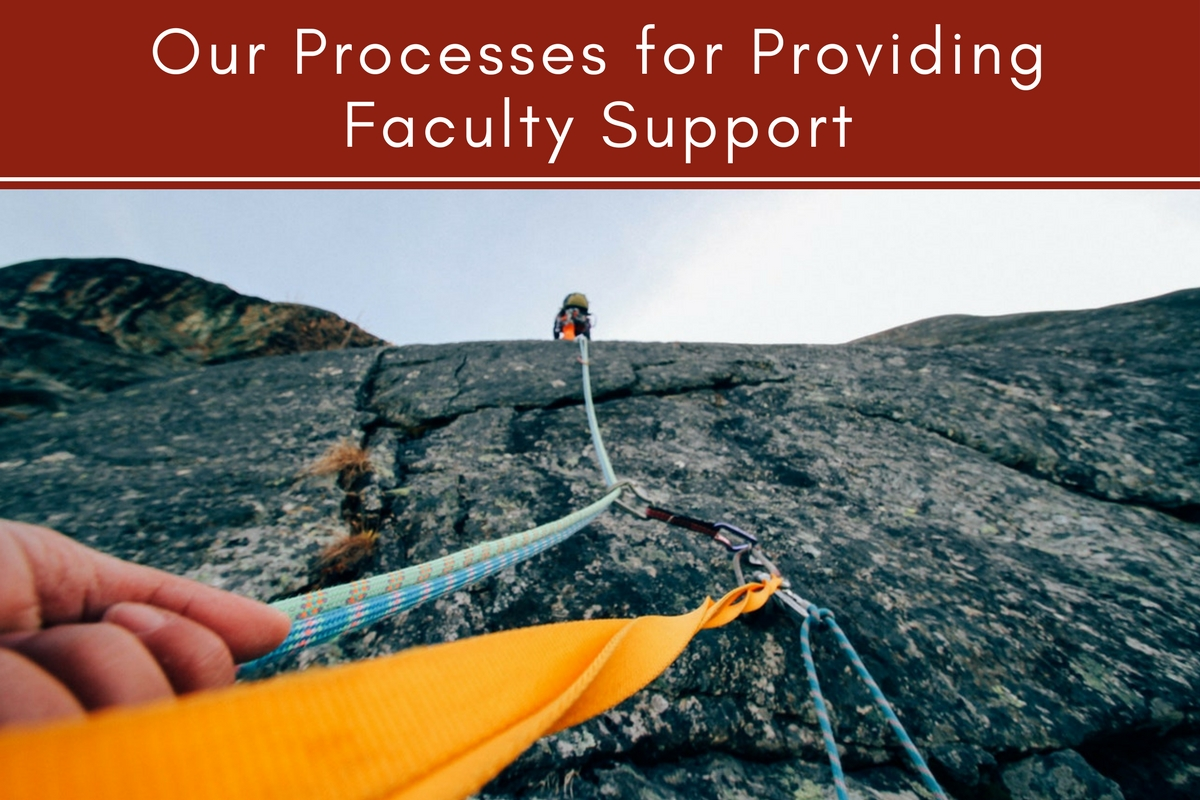 Our Processes for Providing Faculty Support
