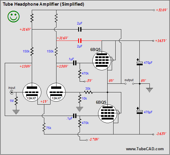 Tube Headphone Amplifier Schematic Typo