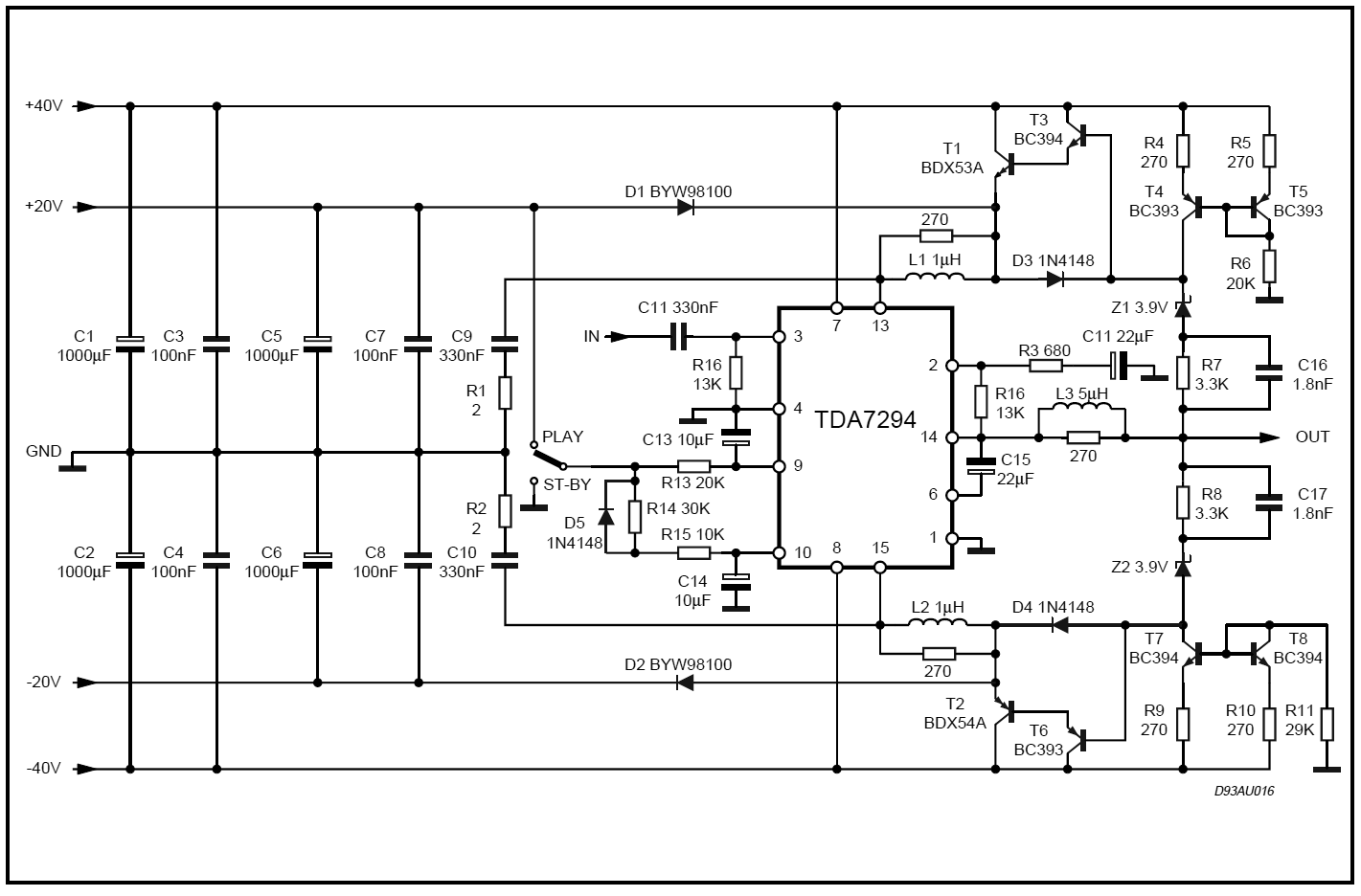 Class G Amplifier Circuit Diagram