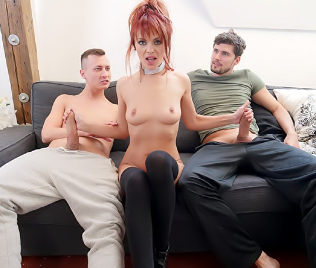 Redhead Dominicas Gaping Dp Threesome