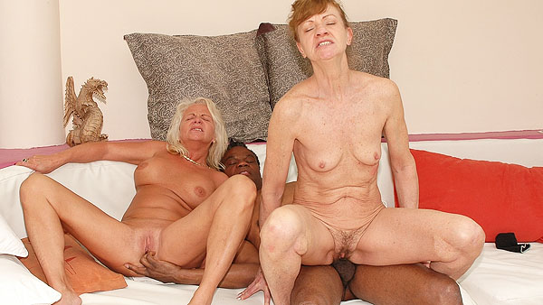 Interracial Anal Granny Orgy