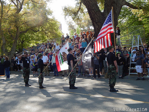 Picnic Day 2014 started off with the UC Davis National Anthem