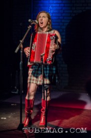 Julie The Bruce, belting it out! Photo by Mickey Martin Photography