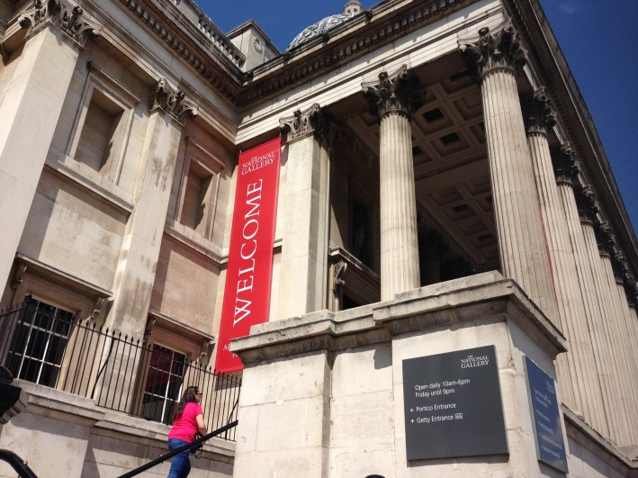 National Gallery entrance.