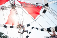 The Vau de Vire Society, $hredder, performing aerial acts at the 2014 Lagunitas Beer Circus in Petaluma CA.