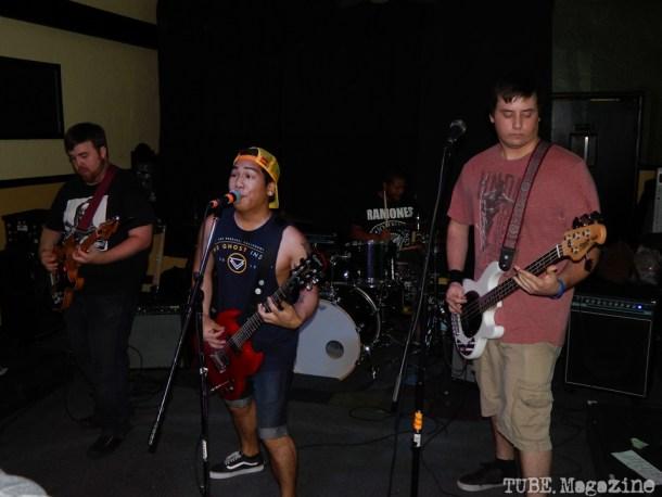 Sleep No More playing in Sacramento CA at Cafe Colonial during Bat Guano Festival 2014. Photo Ryan Stewart.