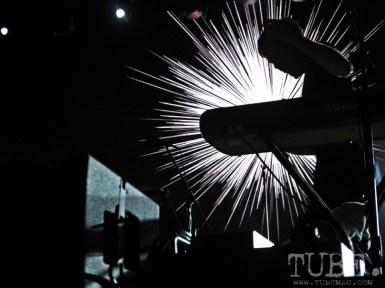 Digital fireworks at the MS MR show. Photo Sarah Elliott