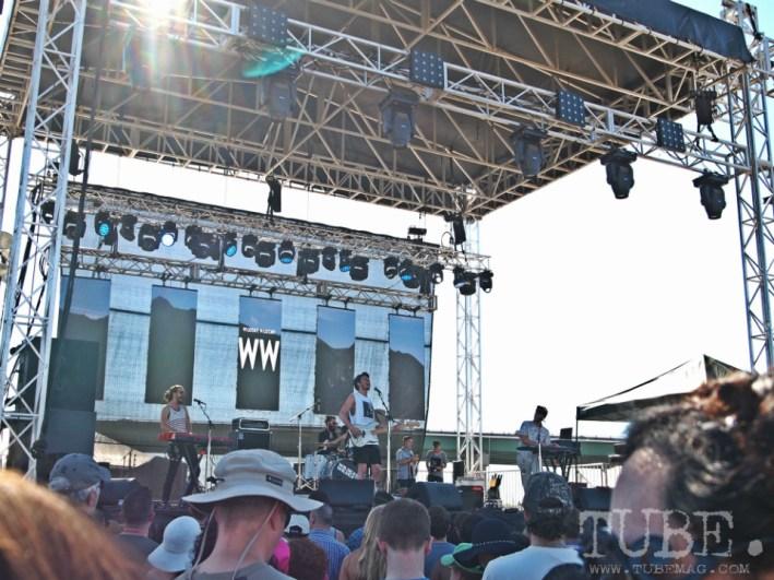 Sacramento TBD Fest 2014. Wildcat! Wildcat! drawing the crowd in. Photo Sarah Elliott