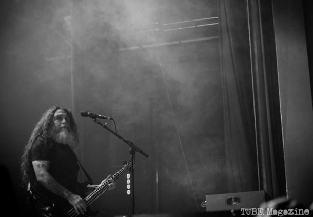 Tom Araya, lead singer of Slayer. Fox Theater. Oakland CA. 2014 Photo Melissa Uroff