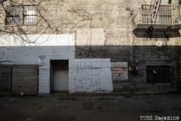 Graffiti in an alleyway off of 7th Street. Photo M.Hershenow. 2014.
