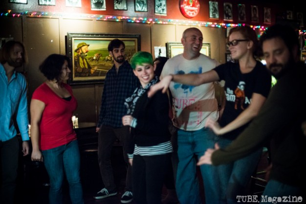The dancing crowd at The Lower 48/Honyock show. Torch Club. Sacramento CA. Photo Melissa Uroff