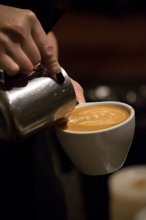 Good milk, the cornerstone of any espresso drink, requires a great deal of skill from the barista. Flavor, texture, and latte art all depend on it. Photo M.Hershenow. 2015