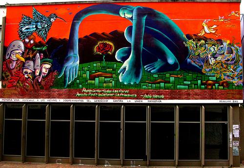 Mural in Universidad Nacional de Colombia, Bogota, Colombia by S.Burner,Yoshi, APC