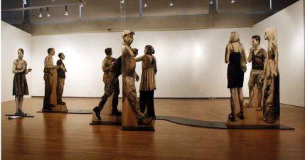 Quantum Confusion charcoal on plywood , plexiglass 8'H x8'D x 18'L Denise Stewart-Sanabria