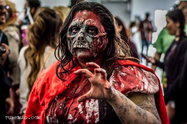 Fan in Zombie Cosplay