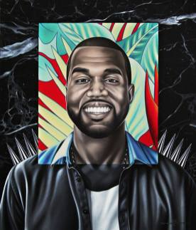 Kanye West by Rinat Shingareev. Diptych Part Two. Oil on Canvas