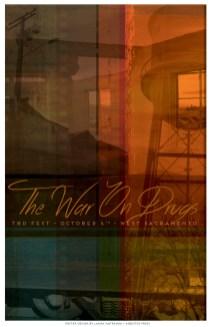Matranga's design for the TBD Fest poster series (photo courtesy Asbestos Press).