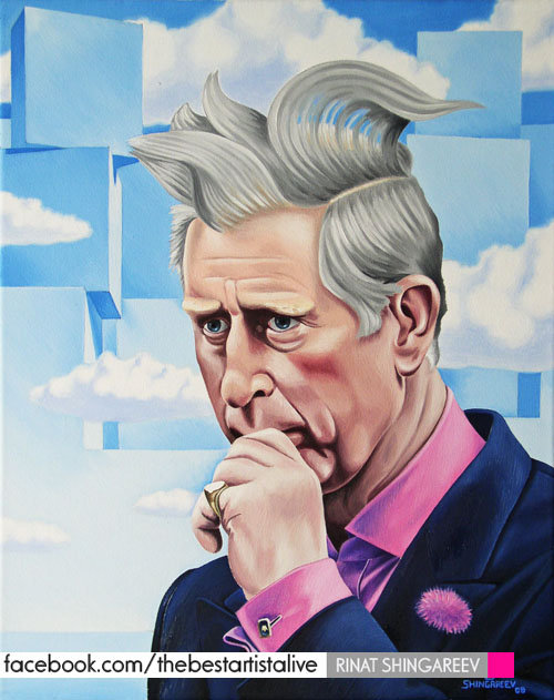 Prince Charles by Rinat Shingareev. Oil on Canvas