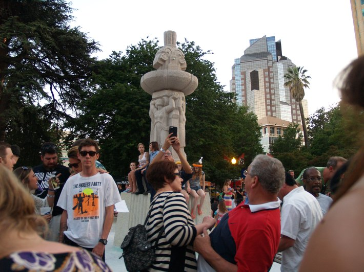 The crowd at Friday night's Concerts in the Park. Photo: Kate Gonzales.