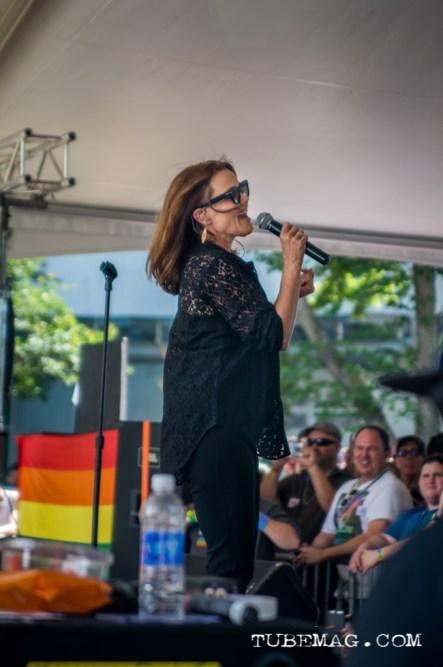 Belinda Carlisle former lead singer of The Go-Go's performing live at Sac Pride 2015, Photo Sarah Elliott