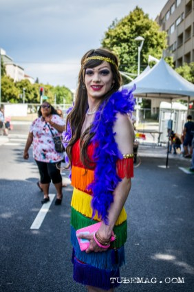 All dressed up in a rainbow of colors at Sac Pride 2015, Photo Sarah Elliott
