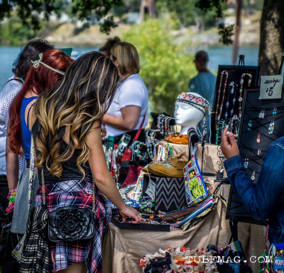 People Shopping the Goods at The First Festival, Sacramento CA