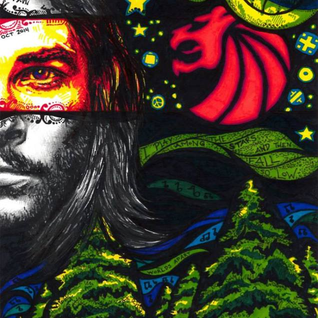 Worlds Apart by Eli Smith. An experimental portrait of the artist's favorite band Seven Lions