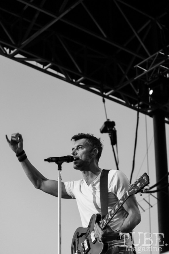 Lead singer of 311 Nick Hexum on stage at Thunder Valley, Sacramento CA. 2015 Photo Danielle.