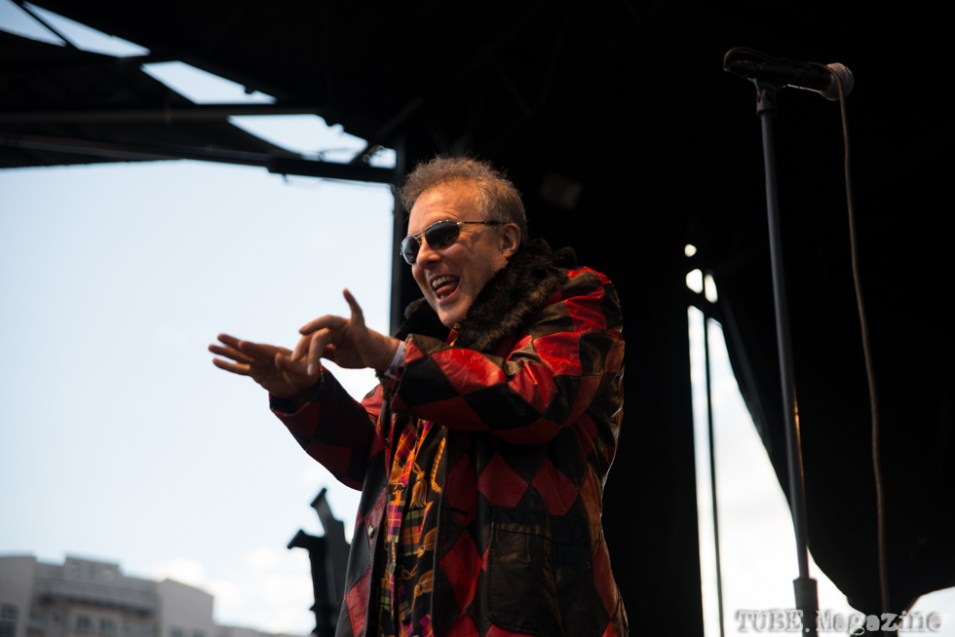 Jello Biafra on stage at the 17th Annual Punk Rock Bowling Festival in Las Vegas Nevada, May 2015. Photo Melissa Uroff