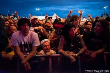 Punk Rock Bowling audience watching Turbonegro. May 2015 Photo Melissa Uroff.