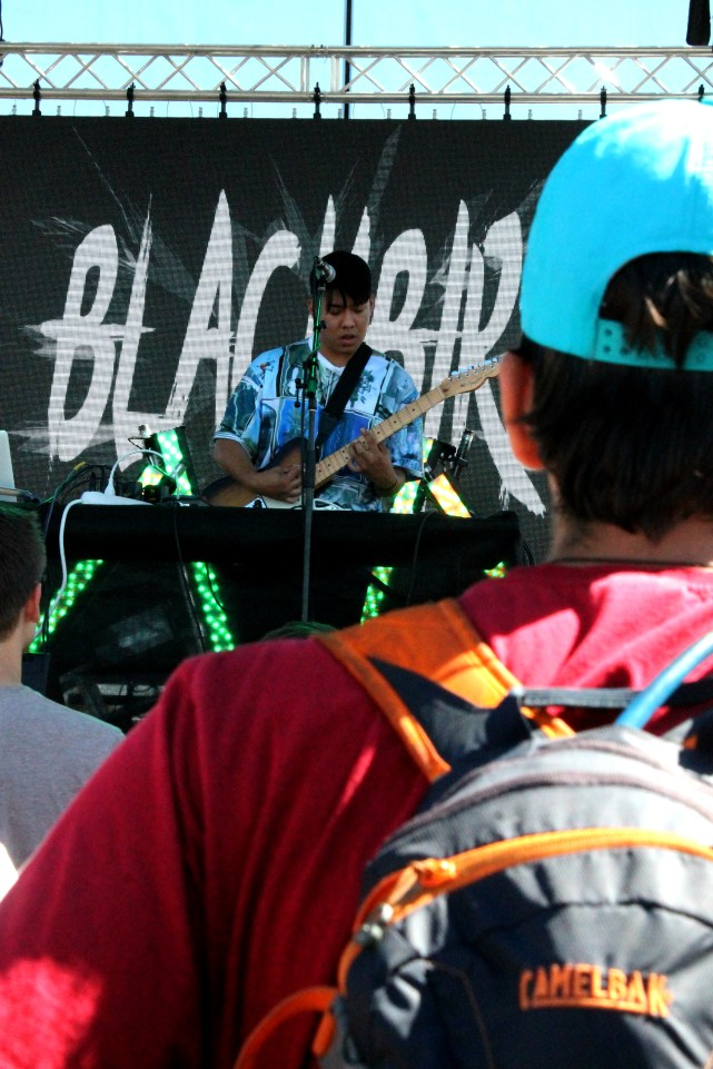 Blackbird Blackbird playing the at TBD Festival in Sacramento, Ca. September 2015. Photo Emma Montalbano